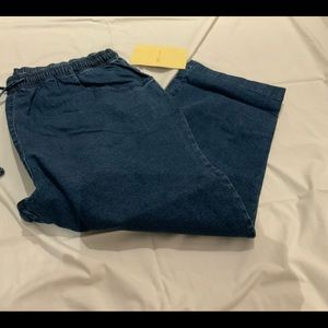 NEW DENIM&CO DENIM  DRAWSTRING JEANS SZ 1X